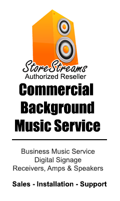 StoreStreams Business Music Service for retailers, restaurants, bars and hotels